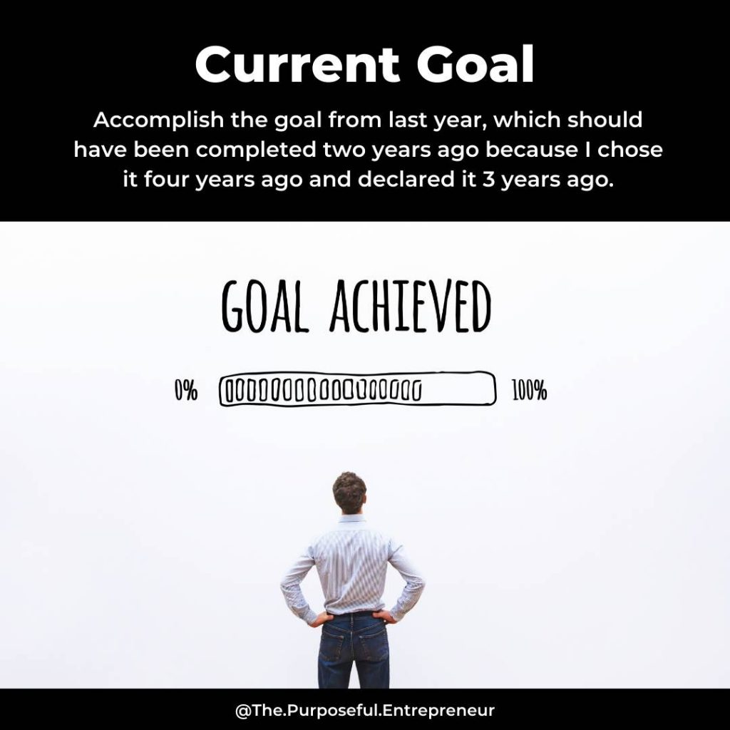 Setting goals does not mean you'll achieve them.