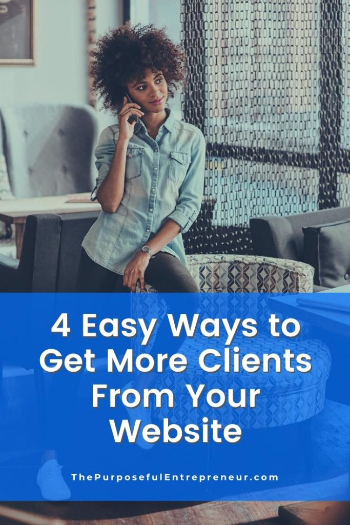 Get clients with your website.